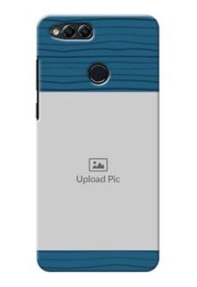 Huawei Honor 7x Blue Pattern Mobile Case Design
