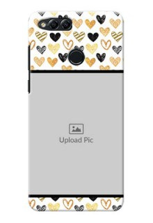 Huawei Honor 7x Colourful Love Symbols Mobile Cover Design