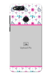 Huawei Honor 7x Colourful Flowers Mobile Cover Design