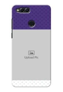Huawei Honor 7x Violet Pattern Mobile Cover Design