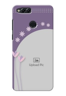 Huawei Honor 7x lavender background with flower sprinkles Design Design