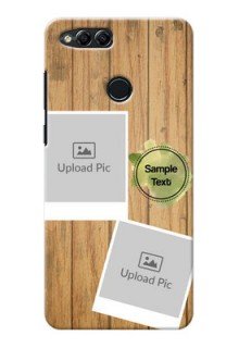 Huawei Honor 7x 3 image holder with wooden texture  Design