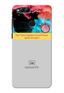 Huawei Honor 7x best friends quote with acrylic painting design Design Design