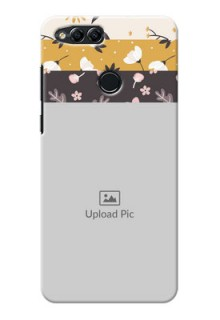 Huawei Honor 7x stylish floral side Design