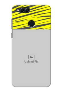 Huawei Honor 7x yellow abstract stripes Design
