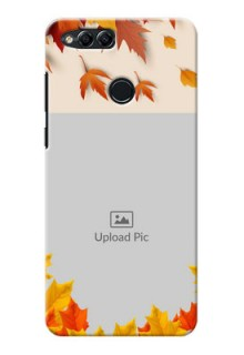 Huawei Honor 7x autumn maple leaves backdrop Design