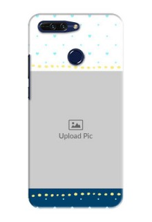 Huawei Honor 8 Pro White And Blue Abstract Mobile Case Design