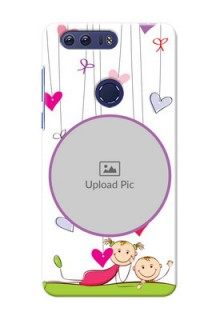 Huawei Honor 8 Cute Babies Mobile Cover  Design