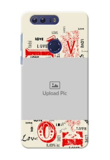 Huawei Honor 8 Lovers Picture Upload Mobile Case Design