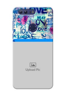 Huawei Honor 8 Colourful Love Patterns Mobile Case Design