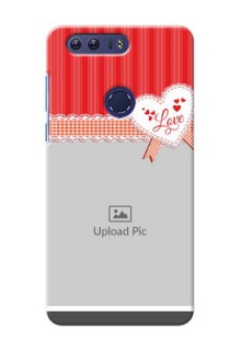 Huawei Honor 8 Red Pattern Mobile Cover Design