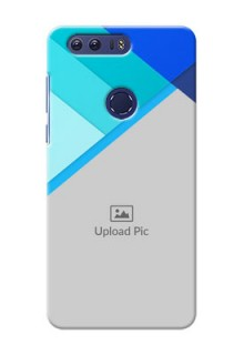 Huawei Honor 8 Blue Abstract Mobile Cover Design
