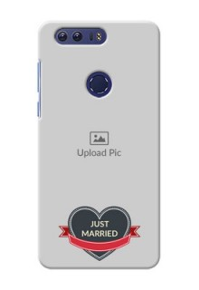 Huawei Honor 8 Just Married Mobile Cover Design