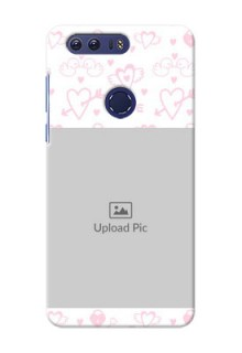 Huawei Honor 8 Flying Hearts Mobile Back Cover Design