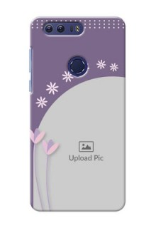 Huawei Honor 8 lavender background with flower sprinkles Design