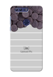Huawei Honor 8 oreo biscuit pattern with white stripes Design Design