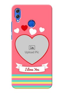 Huawei Honor 8X I Love You Mobile Cover Design