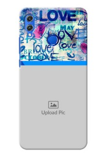 Huawei Honor 8X Colourful Love Patterns Mobile Case Design