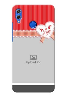 Huawei Honor 8X Red Pattern Mobile Cover Design