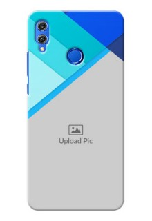 Huawei Honor 8X Blue Abstract Mobile Cover Design