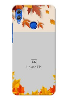 Huawei Honor 8X autumn maple leaves backdrop Design