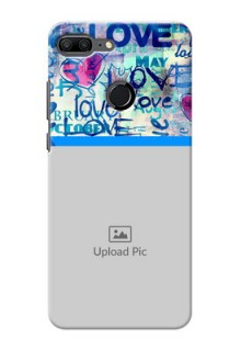 Huawei Honor 9 Lite Colourful Love Patterns Mobile Case Design