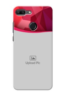 Huawei Honor 9 Lite Red Abstract Mobile Case Design