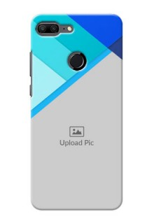 Huawei Honor 9 Lite Blue Abstract Mobile Cover Design