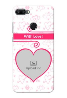 Huawei Honor 9n Personalized Phone Cases: Heart Shape Love Design
