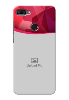 Huawei Honor 9n custom mobile back covers: Red Abstract Design