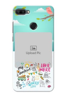 Huawei Honor 9n phone cases online: Doodle love Design