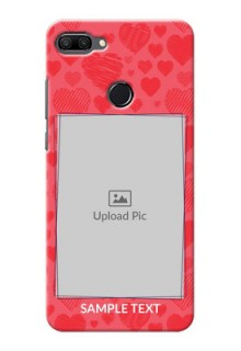 Huawei Honor 9n Mobile Back Covers: with Red Heart Symbols Design