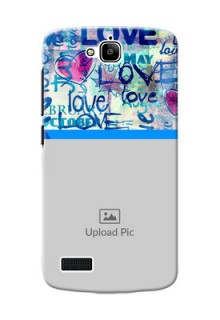 Huawei Honor Holly Colourful Love Patterns Mobile Case Design