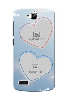 Huawei Honor Holly couple heart frames with sky backdrop Design
