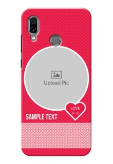 Huawei Honor Play Mobile Covers Online: Pink Pattern Design
