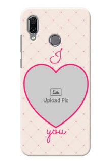 Huawei Honor Play Personalized Mobile Covers: Heart Shape Design