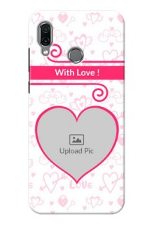 Huawei Honor Play Personalized Phone Cases: Heart Shape Love Design