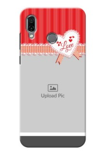 Huawei Honor Play phone cases online: Red Love Pattern Design