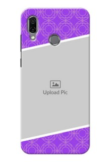 Huawei Honor Play mobile back covers online: violet Pattern Design