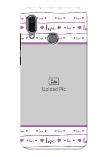 Huawei Honor Play Mobile Back Covers: Couples Heart Design