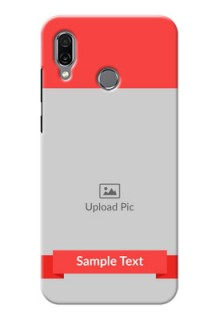 Huawei Honor Play Personalised mobile covers: Simple Red Color Design