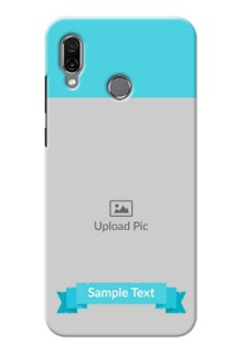 Huawei Honor Play Personalized Mobile Covers: Simple Blue Color Design