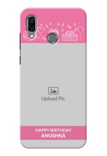 Huawei Honor Play Custom Mobile Cover with Birthday Line Art Design