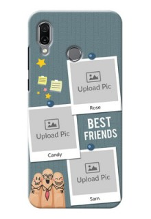 Huawei Honor Play Mobile Cases: Sticky Frames and Friendship Design