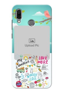 Huawei Honor Play phone cases online: Doodle love Design