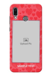 Huawei Honor Play Mobile Back Covers: with Red Heart Symbols Design