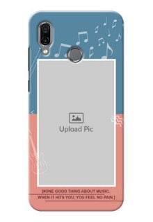 Huawei Honor Play Phone Back Covers with Color Musical Note Design