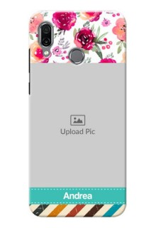 Huawei Honor Play Personalized Mobile Cases: Watercolor Floral Design