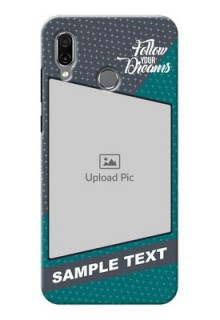 Huawei Honor Play Back Covers: Background Pattern Design with Quote