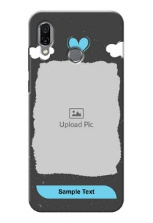 Huawei Honor Play Mobile Back Covers: splashes with love doodles Design